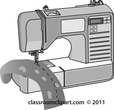 Clipart Sewingmachinegray Classroom Clipart Classy Animated Sewing Machine