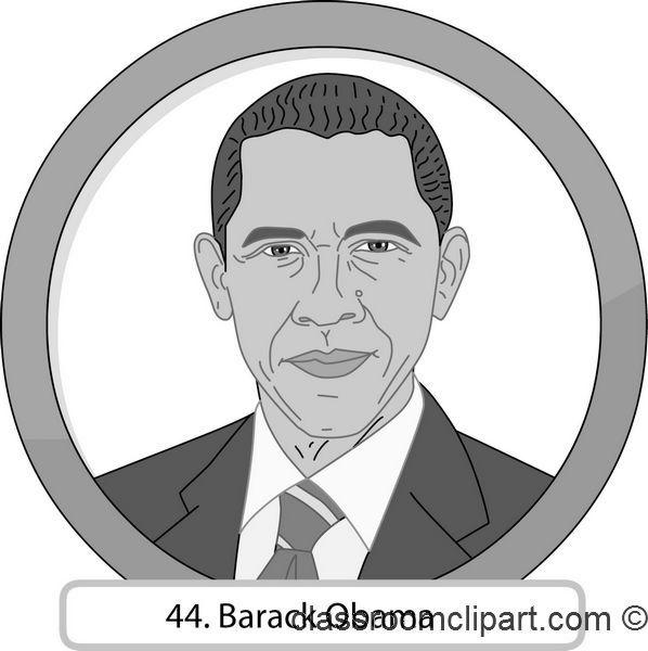 clipart 44 barack obama gray classroom clipart