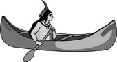 Indian And Canoe Clipart Size 36 Kb From Native American