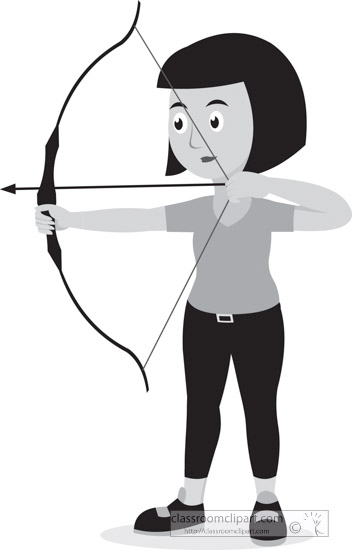 girl-with-bow-and-arrow-archery-sports-gray-clipart.jpg