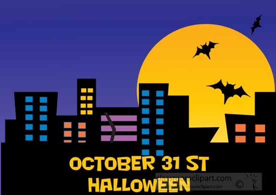 Halloween : october_31_hallloween_clipart : Classroom Clipart - October 31 Halloween