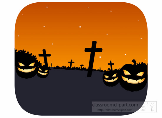 orange-scary-background-with-ghost-pumpkins-tombstone-in-graveyard-halloween-clipart-1012.jpg