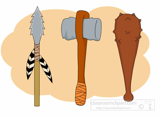 weapons-of-prehistoric-man-clipart.jpg