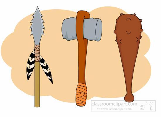 weapons-of-prehistoric-man-clipart.jpg