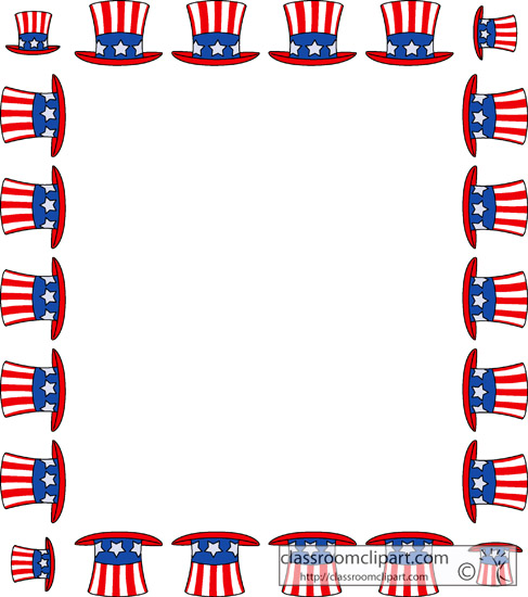 Fourth of July : fourth_july_hat_sqaure_border : Classroom ...