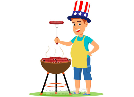 man-grilling-food-on-barbecue-in-backyard-fourth-of-july-clipart.jpg