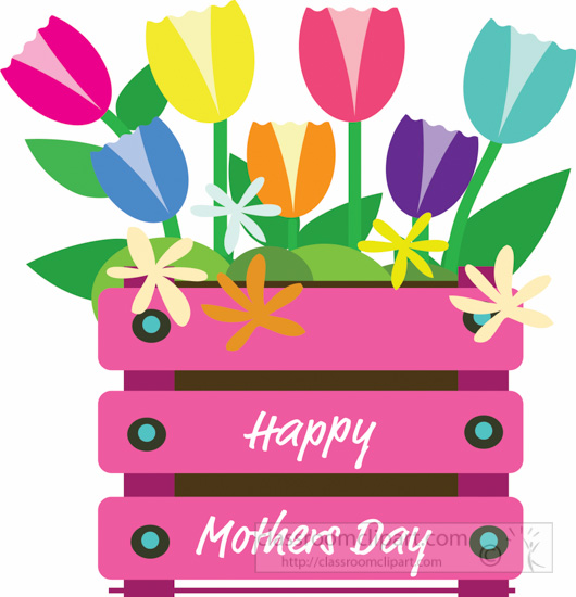 Mothers Day Clipart- happy-mothers-day-tulip-flowers ...