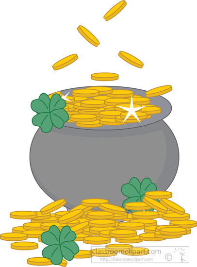 st patricks day clipart pot of gold clipart with clover clipart rh classroomclipart com golf clip art black and white golf clip art free download