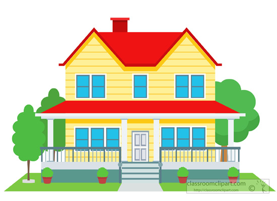 Home clipart duplex house building clipart 126 for Picture of my home