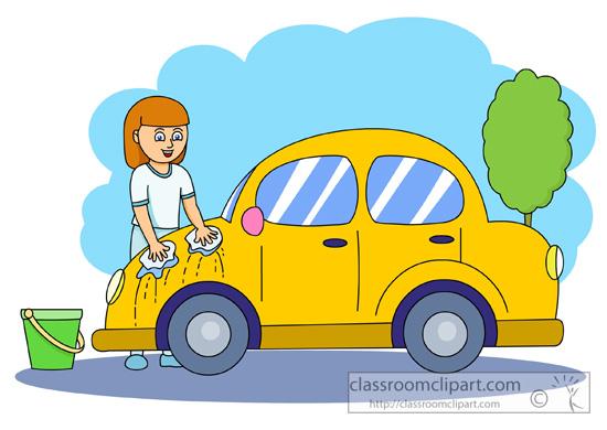 girls washing cars antimated