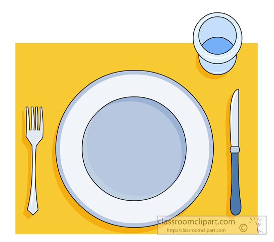 Household Clipart Table Setting 1013 Classroom Clipart