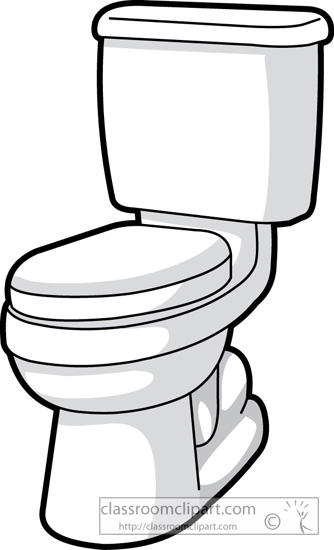 Household Toilet In Bathroom 13 Classroom Clipart