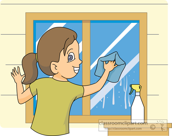 household washingwindows1013 classroom clipart
