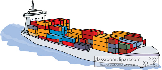 clipart container ship - photo #8