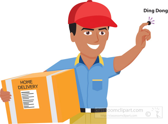clipart delivery man - photo #26
