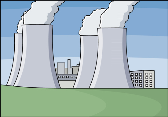 Industry Clipart - nuclear-power-plant - Classroom Clipart