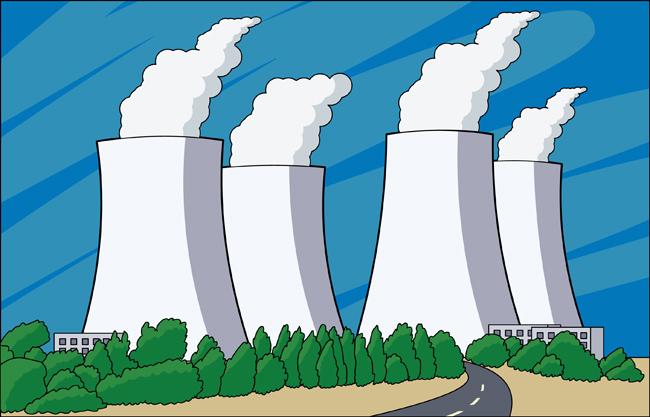 Industry Clipart- nucleur-power-plant-2 - Classroom Clipart