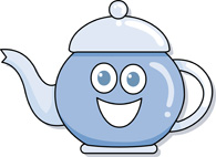 02 Teapot Clipart Cake Ideas and Designs