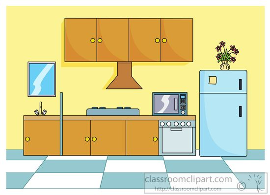 Kitchen : modern-kitchen-stove-refrigerator-clipart-715 : Classroom ...