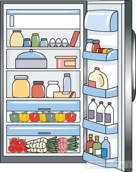 Image result for cartoon fridge with food inside gif