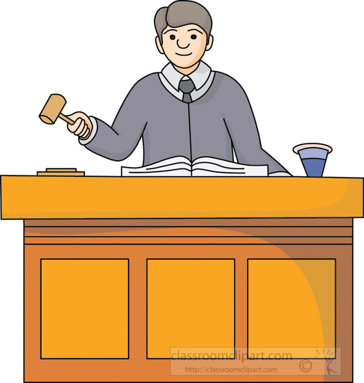 Legal Clipart- judge-in-courtroom-2 - Classroom Clipart