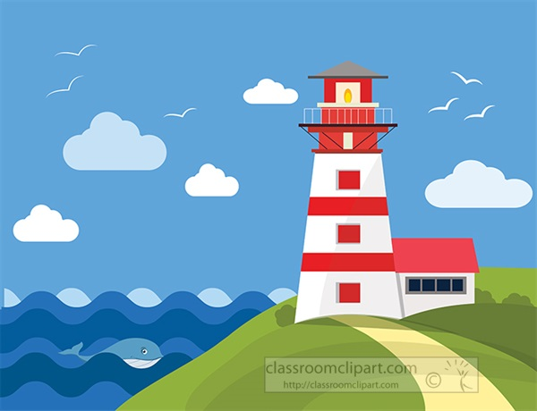 lighhouse-overlooking-whale-swimming-in-rough-ocean-waves-clipart.jpg
