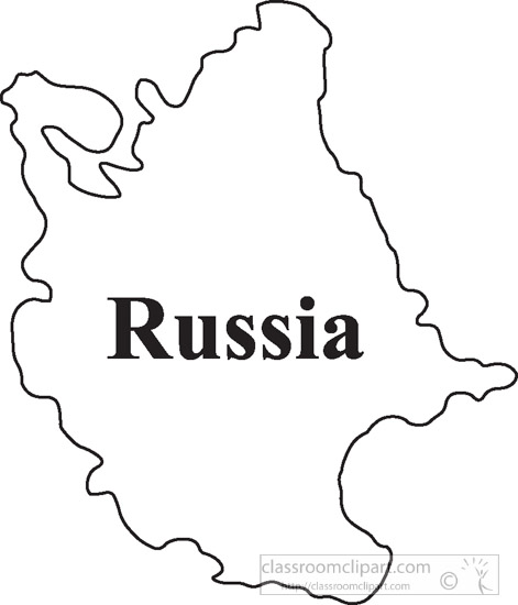 Country Maps Russia Outline Map Clipart 04 8 Classroom Clipart