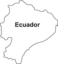Countries Of The World Color Map Clip Art Graphics Illustrations - Colored outline map of ecuador