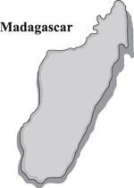 Countries Of The World Color Map Clip Art Graphics Illustrations - Madagascar map outline