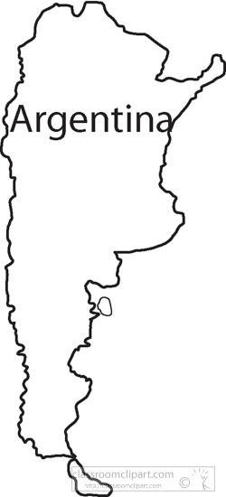 Country Maps Clipart Argentinaoutlinemapclipart Classroom - Argentina map black and white