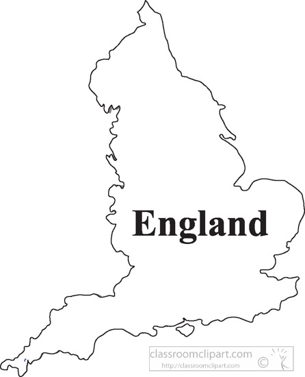 Country Maps England Outline Map Clipart 18 Classroom Clipart