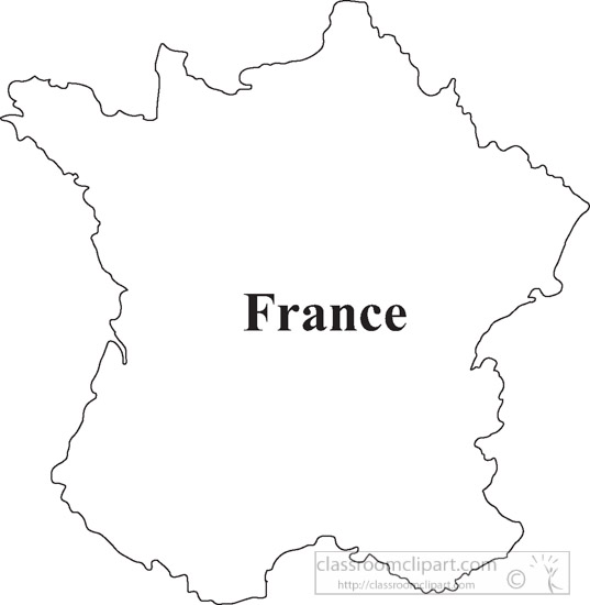 Country Maps France Outline Map Clipart 17 Classroom Clipart
