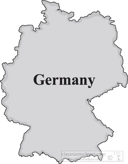 germany gray map clipart 16jpg