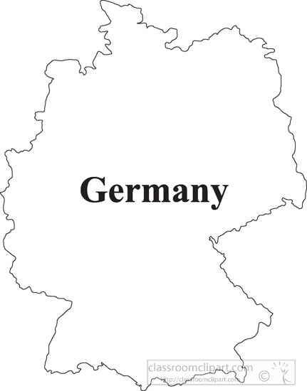 Outline Map Of Germany.Country Maps Germany Outline Map Clipart 16 Classroom Clipart