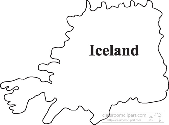 iceland outline map