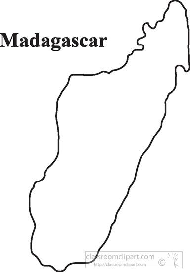 outline of madagascar