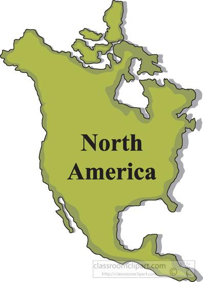 Map Of America Clipart.North America Map Clipart Mara Yasamayolver Com