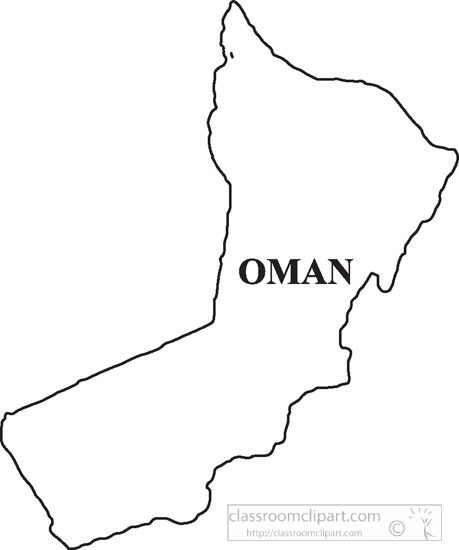 Country Maps Clipart Omanclipartoutlinemapclipart Classroom - Oman map download