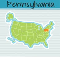 united states map with state of pennsylvania size 100 kb