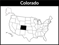 Colorado Map Square Black White Clipart Size 89 Kb