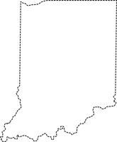 Indianapolis Indiana State Us Map With Capital Black White Gray Size 63 Kb From Us State Black White Maps