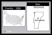 Search Results For Vermont Clip Art Pictures Graphics - Vermont on the us map