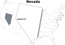 Search Results For Nevada Clip Art Pictures Graphics - Outline of us map