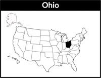 Ohio Map United States Clipart Size 122 Kb From Us State Maps