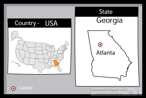 Us Map Atlanta Georgia Globalinterco - Atlanta on the us map