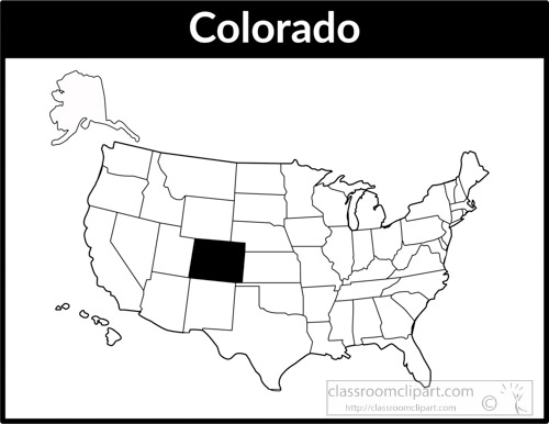 United States Black White Outline Map Clip Art Graphics