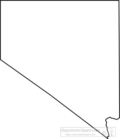Us State Black White Maps Clipart Photo Image Nevada Outline Map Clipart Classroom Clipart