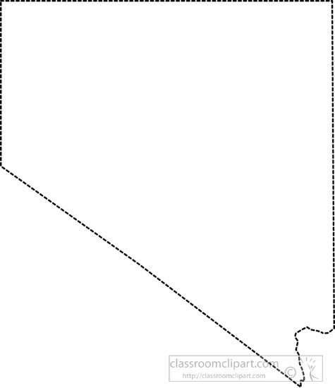 United States Black White Outline Map Clip Art Graphics Illustrations