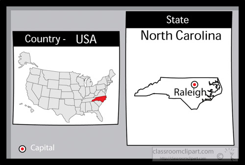 Us State Black White Maps Raleigh North Carolina State Us Map With - Raleigh-nc-on-us-map