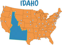 Search Results For Idaho Clip Art Pictures Graphics - Idaho on us map